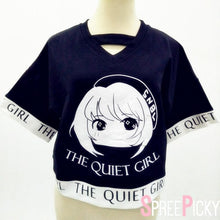 Load image into Gallery viewer, Black Kawaii The Quiet Girl Loose Top SP178950