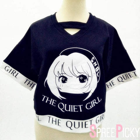 Black Kawaii The Quiet Girl Loose Top SP178950
