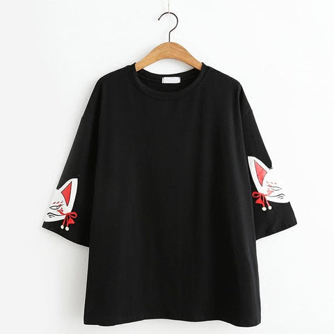 Black Loose Harajuku Shirt SP1812176