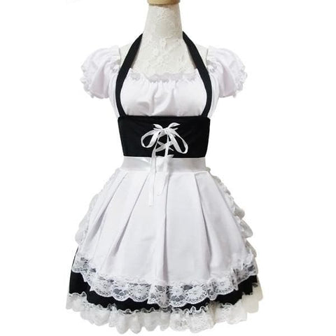 Black Maid Dress Shoulder Off Dress SP141197 - SpreePicky  - 3