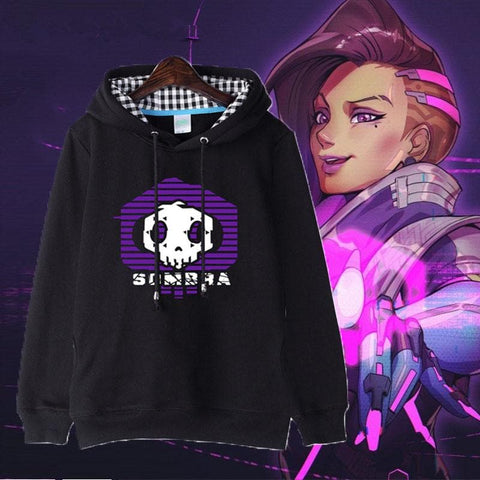 Black Overwatch Sombra Hoodie Jumper SP179292