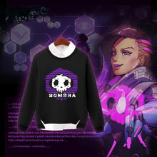 Load image into Gallery viewer, Black Overwatch Sombra Hoodie Jumper SP179292