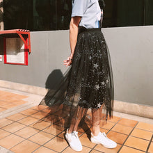 Load image into Gallery viewer, Black Shining Galaxy Tulle Skirt SP1812202