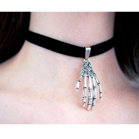 Black Skeleton Choker SP166790