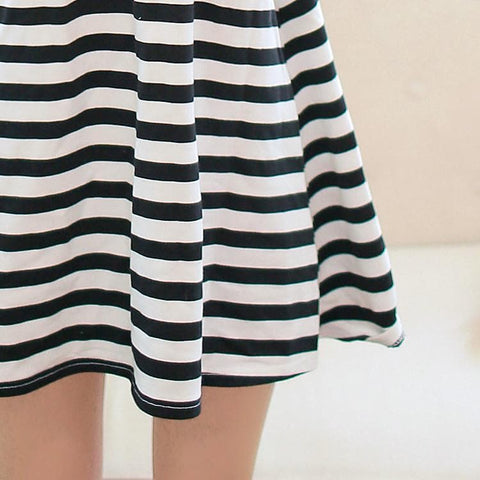 Black/white Stripe Kawaii Dress SP152923 - SpreePicky  - 6