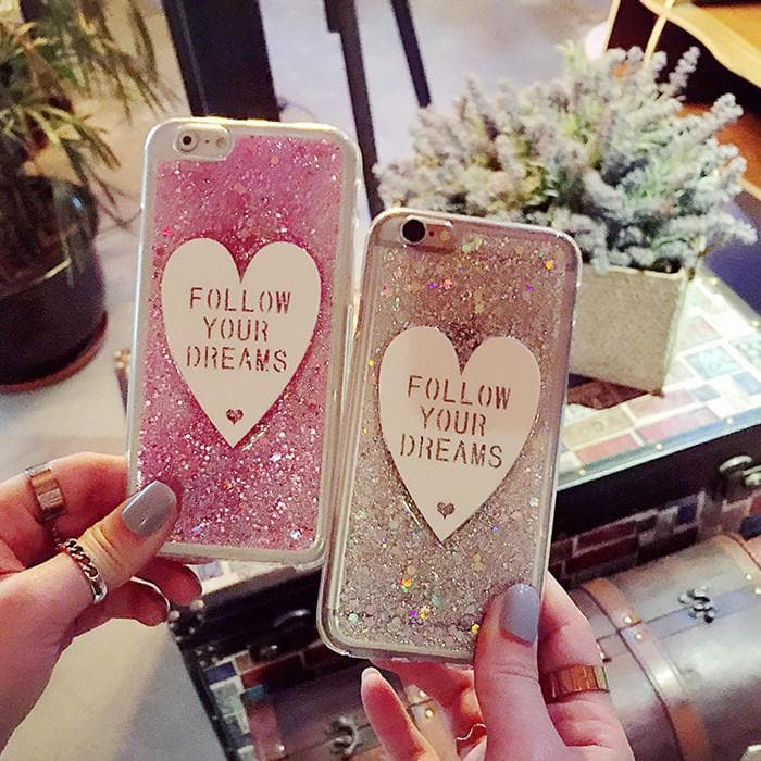 Bling Bling Follow Your Dream Heart Phone Case SP166295