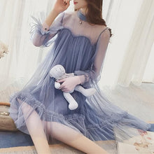 Load image into Gallery viewer, Blue/Beige Fairy Falbala Tulle Dress SP1812152