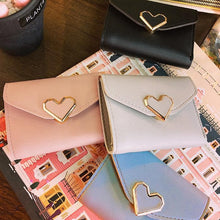 Load image into Gallery viewer, Blue/Grey/Black Sweet Heart Kawaii Wallet SP1811880