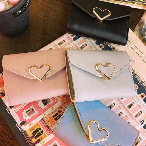 Blue/Grey/Black Sweet Heart Kawaii Wallet SP1811880