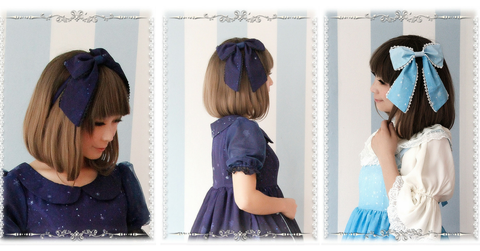 Blue/Navy Lolita Frozen Snow Carstal KC Hair Accessory SP164838 - SpreePicky  - 2