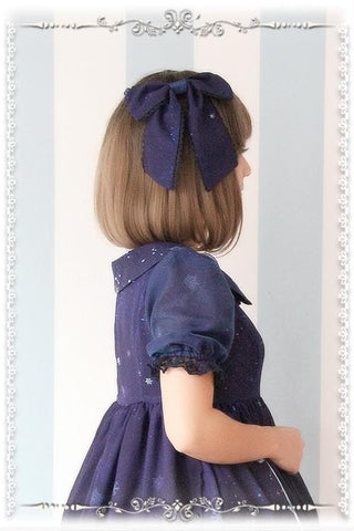Blue/Navy Lolita Frozen Snow Carstal KC Hair Accessory SP164838 - SpreePicky  - 3