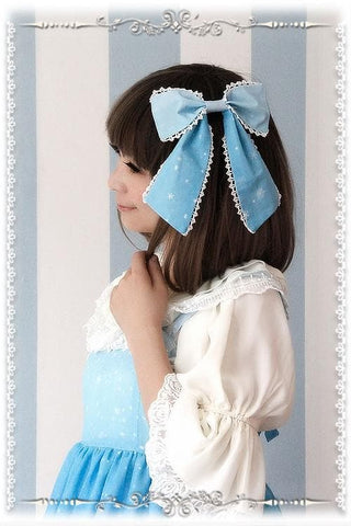 Blue/Navy Lolita Frozen Snow Carstal KC Hair Accessory SP164838 - SpreePicky  - 5