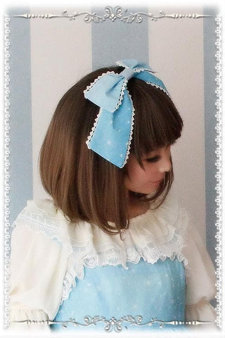 Blue/Navy Lolita Frozen Snow Carstal KC Hair Accessory SP164838 - SpreePicky  - 4