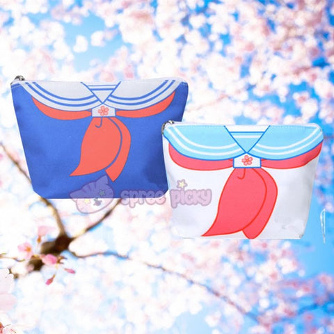 Blue/Navy Sakura Seifuku Canvas Storage Bag SP152240 - SpreePicky  - 1