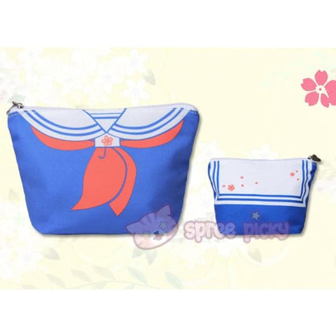 Blue/Navy Sakura Seifuku Canvas Storage Bag SP152240 - SpreePicky  - 2