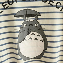 Load image into Gallery viewer, Blue/Navy Stripe Totoro Mori Girl Long Sleeve Jumper SP153463 - SpreePicky  - 10
