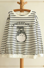 Load image into Gallery viewer, Blue/Navy Stripe Totoro Mori Girl Long Sleeve Jumper SP153463 - SpreePicky  - 4