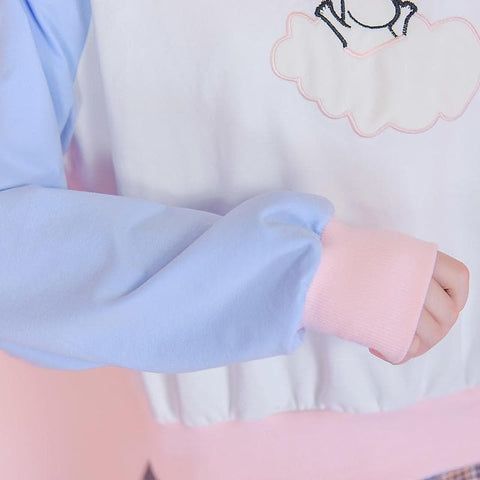 Blue/Pink Kawaii Moomin Short Jumper SP168056