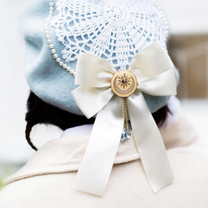 Blue/Pink Kawaii Lolita Bow Beret SP1811812
