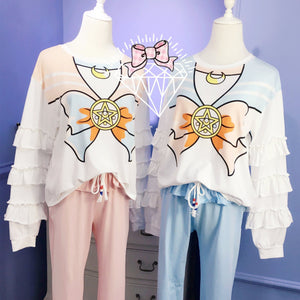 Blue/Pink Sailor Moon Falbala Homewear Set SP1711407