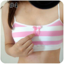 Load image into Gallery viewer, Blue/Pink Stripes Cosplay Crop Top SP178952