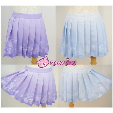 Blue/Purple Bubble Lemonade Seifuku Uniform Top SP140976/ Skirt SP140975 - SpreePicky  - 3