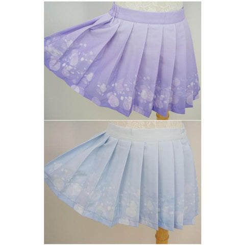 Blue/Purple Bubble Lemonade Seifuku Uniform Top SP140976/ Skirt SP140975 - SpreePicky  - 5