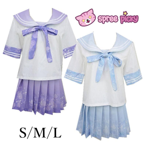 Blue/Purple Bubble Lemonade Seifuku Uniform Top SP140976/ Skirt SP140975 - SpreePicky  - 1