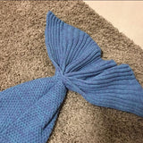 Blue/Red Mermaid Tail Knitted Blanket SP164884 - SpreePicky  - 10
