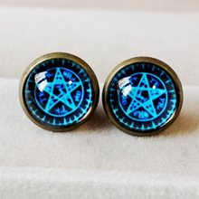 Load image into Gallery viewer, Blue Magic Circle Star Earring SP152600 - SpreePicky  - 1