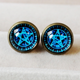Blue Magic Circle Star Earring SP152600 - SpreePicky  - 1