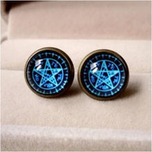 Load image into Gallery viewer, Blue Magic Circle Star Earring SP152600 - SpreePicky  - 2