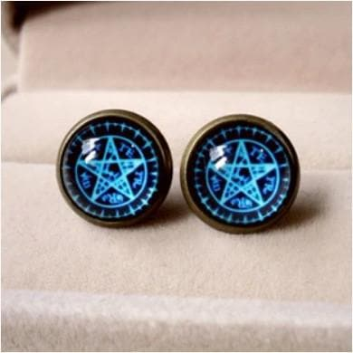 Blue Magic Circle Star Earring SP152600 - SpreePicky  - 2