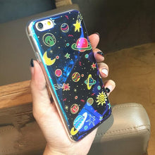 Load image into Gallery viewer, Blue Galaxy Planets Phone Case for Iphone 6/6S/Plus SP165227 Kawaii Aesthetic Fashion - SpreePicky