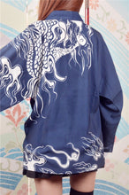 Load image into Gallery viewer, Blue Time Raiders Dragon Kimono Bathrobe SP179986