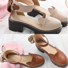 Load image into Gallery viewer, Brown/Beige Kawaii Kitty Bow Shoes SP1812595
