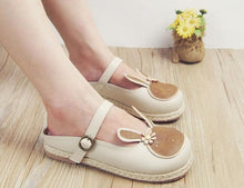 Load image into Gallery viewer, Brown/Beige Kawaii Retro Preppy Style Shoes SP168025