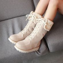 Load image into Gallery viewer, Brown/Beige Winter Flange Martin Boots SP154530 - Harajuku Kawaii Fashion Anime Clothes Fashion Store - SpreePicky