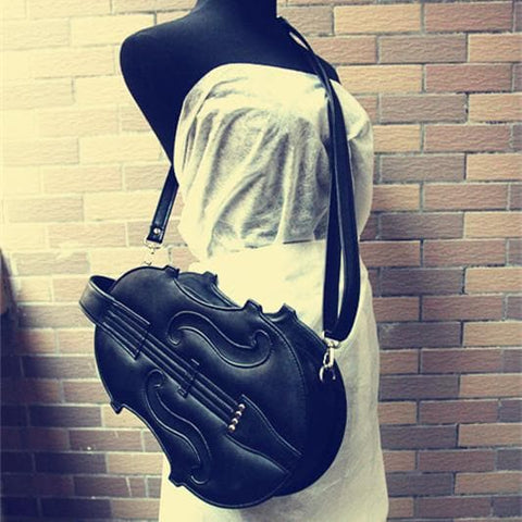 Brown/White/Black Lolita Violin Bag SP168491