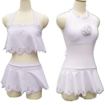 S/M/L Card Captor Sakura Hallow White Swimming Suit SP153266 - SpreePicky  - 1