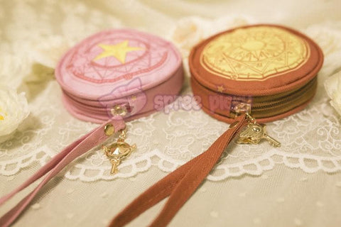 Pink/Red Card Captor Sakura Little Coin Purse SP153265 - SpreePicky  - 2