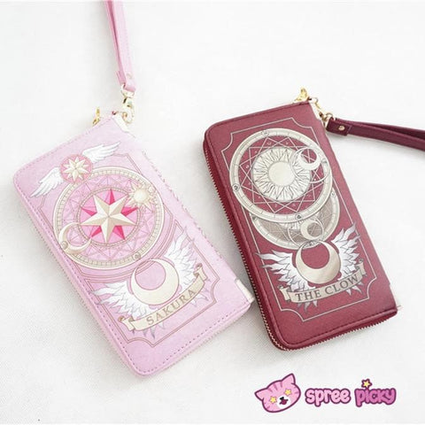 2 Colors Card Captor Sakura Magic Book Hand Bag Purse Can Pack Phone SP151782 - SpreePicky  - 2