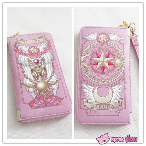 2 Colors Card Captor Sakura Magic Book Hand Bag Purse Can Pack Phone SP151782 - SpreePicky  - 3