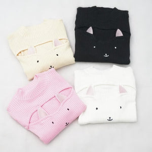 4 Colors Kitty Open Chest Sweater SP154123 - SpreePicky  - 1