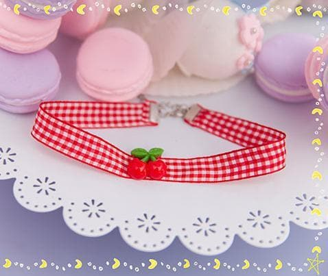 Cherry Ribbon Choker SP153787 - SpreePicky  - 3