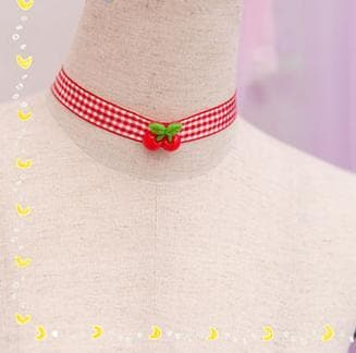 Cherry Ribbon Choker SP153787 - SpreePicky  - 5