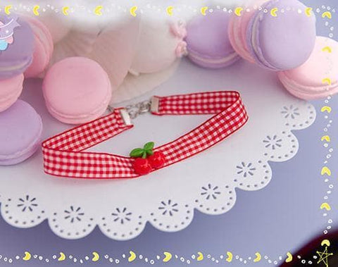 Cherry Ribbon Choker SP153787 - SpreePicky  - 4