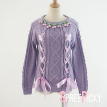 Load image into Gallery viewer, Cherry Taro Purple Sweater  SP140332