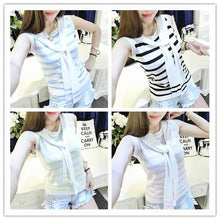 Load image into Gallery viewer, 4 colors Chibi Sailor Knitted Stripe Summer Shirt SP152453 - SpreePicky  - 1