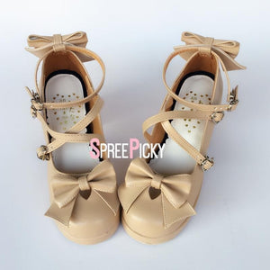 Coffee Hearts High Heel Shoes SP1710043